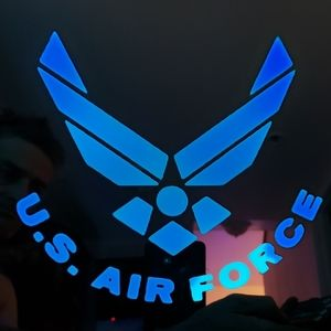 US Air Force etched lighted mirror
